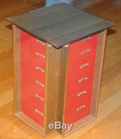 Vintage 1960s Schrade Walden Counter-Top Store Revolving Knife Display Case