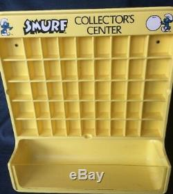 Vintage 1980s Smurf Pitufo Schlumpf Collector's Center Store Display Case
