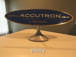 Vintage Accutron Watch by Bulova Brass Metal Jeweler's Case Store Display Sign