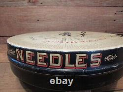 Vintage Antique 1900's Boye Needle Co Rotary Bobbins Shuttles DISPLAY Store Case