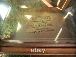 Vintage Antique Pair of Oak 1897 General Store Display Cases Schwaybeck Bros