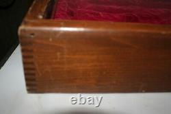 Vintage Buck Knifes wood Counter Top store Display Case