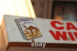 Vintage Camel Winston Salem Cigarette Store Metal Display Case Cavalier Shelf