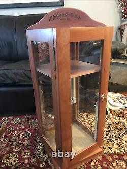 Vintage Case Knives Wood Store Counter Display Cabinet In Great Condition