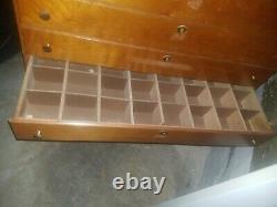 Vintage Case XX Cutlery Display Case Cabinet knives knife locking wooden storage