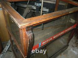 Vintage Cigar Store Wooden Display Case with Dutch Masters Cigars Advertising