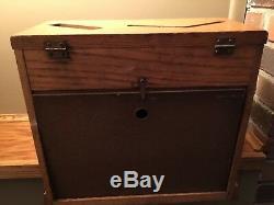 Vintage Hardware Store Display High Speed Drill Bit Wooden Display Case