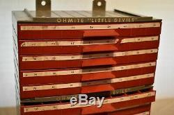 Vintage Ohmite Little Devils Resistors 20 Drawer Storage Dealer Display Case
