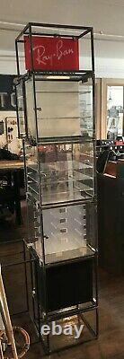 Vintage Retro Ray Ban Sunglass Display Case Huge Ad Store Unit