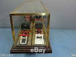 Vintage Scale00 12 Diorama Glass / Brass Display Case With Wooden Plith