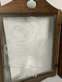 Vintage Sherlock Holmes Wooden Pipe Display Storage Cabinet Case Excellent