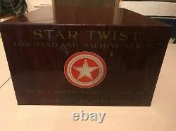 Vintage Star spool cabinet American Thread Co. Store display advertising sewing