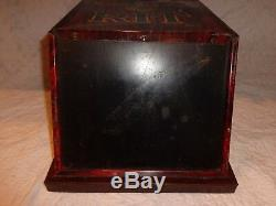 Vintage Tin Rit General Store Advertising Dye Counter Top Display Cabinet Case