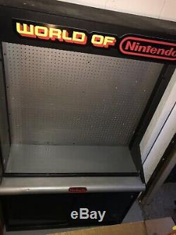 Vintage World Of Nintendo Store Display Cabinet Case NES SNES N64 ToysRus KBtoys