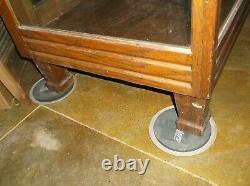 Vintage antique General Store Glass Display Cabinet oak Showcase 40T47L24W