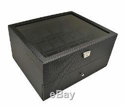 WATCH display CASE 52mm Watches Storage Organizer Box glass top Leatherette/36