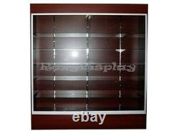 Wall Cherry Display ShowCase Retail Store Fixture WithLights Knocked Down #WC6C-SC