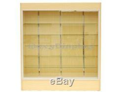 Wall Maple Display Show Case Retail Store Fixture WithLights Knocked Down #SC-WC6M