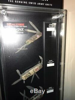 Wenger Swiss Army Knife Store Display Case With Original Knives In Display