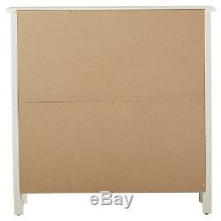 White Display Cabinet Case Glass Doors Shelf Dining Room China Storage Organizer