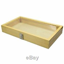 Wholesale Lot 12 Wood Glass Top Lid Keepsake Hobby Jewelry Display Storage Cases